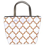 TILE1 WHITE MARBLE & RUSTED METAL (R) Bucket Bags Back