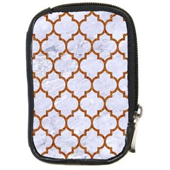 Tile1 White Marble & Rusted Metal (r) Compact Camera Cases