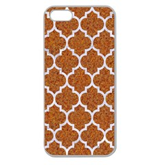 Tile1 White Marble & Rusted Metal Apple Seamless Iphone 5 Case (clear)