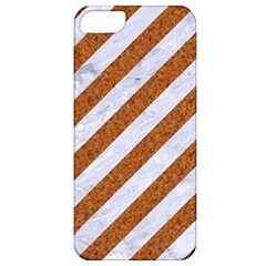 Stripes3 White Marble & Rusted Metal (r) Apple Iphone 5 Classic Hardshell Case