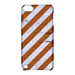 Stripes3 White Marble & Rusted Metal (r) Apple Ipod Touch 5 Hardshell Case With Stand