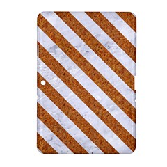 Stripes3 White Marble & Rusted Metal Samsung Galaxy Tab 2 (10 1 ) P5100 Hardshell Case