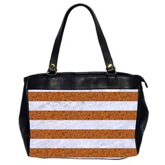 Stripes2white Marble & Rusted Metal Office Handbags (2 Sides)