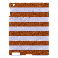 Stripes2white Marble & Rusted Metal Apple Ipad 3/4 Hardshell Case