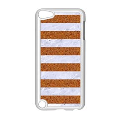 Stripes2white Marble & Rusted Metal Apple Ipod Touch 5 Case (white)