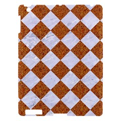 Square2 White Marble & Rusted Metal Apple Ipad 3/4 Hardshell Case