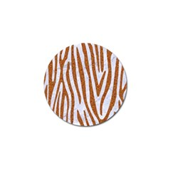 Skin4 White Marble & Rusted Metal Golf Ball Marker