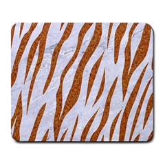 Skin3 White Marble & Rusted Metal (r) Large Mousepads