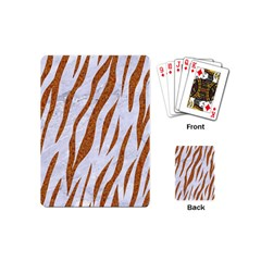 Skin3 White Marble & Rusted Metal (r) Playing Cards (mini)