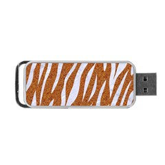 Skin3 White Marble & Rusted Metal Portable Usb Flash (one Side)