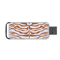 Skin2 White Marble & Rusted Metal (r) Portable Usb Flash (one Side)