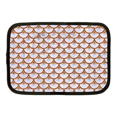 Scales3 White Marble & Rusted Metal (r) Netbook Case (medium)