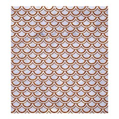 Scales2 White Marble & Rusted Metal (r) Shower Curtain 66  X 72  (large)