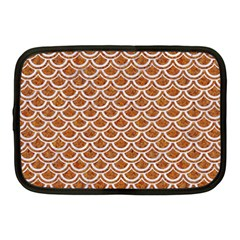 Scales2 White Marble & Rusted Metal Netbook Case (medium)