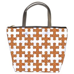 Puzzle1 White Marble & Rusted Metal Bucket Bags