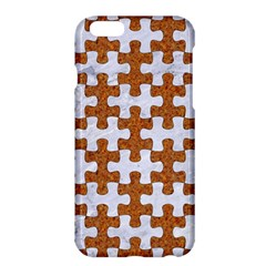 Puzzle1 White Marble & Rusted Metal Apple Iphone 6 Plus/6s Plus Hardshell Case