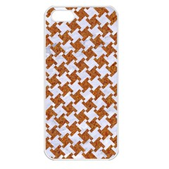 Houndstooth2 White Marble & Rusted Metal Apple Iphone 5 Seamless Case (white)