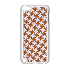 Houndstooth2 White Marble & Rusted Metal Apple Ipod Touch 5 Case (white)