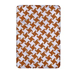 Houndstooth2 White Marble & Rusted Metal Samsung Galaxy Tab 2 (10 1 ) P5100 Hardshell Case
