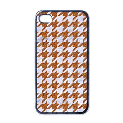 Houndstooth1 White Marble & Rusted Metal Apple Iphone 4 Case (black)