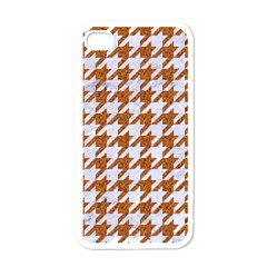 Houndstooth1 White Marble & Rusted Metal Apple Iphone 4 Case (white)