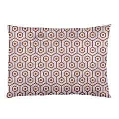 Hexagon1 White Marble & Rusted Metal (r) Pillow Case