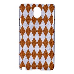 Diamond1 White Marble & Rusted Metal Samsung Galaxy Note 3 N9005 Hardshell Case