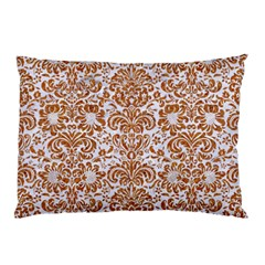 Damask2 White Marble & Rusted Metal (r) Pillow Case