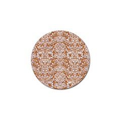 Damask2 White Marble & Rusted Metal Golf Ball Marker