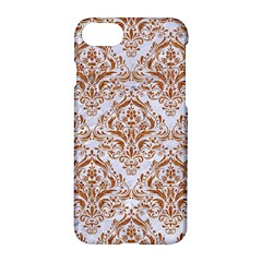 Damask1 White Marble & Rusted Metal (r) Apple Iphone 7 Hardshell Case