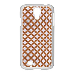Circles3 White Marble & Rusted Metal (r) Samsung Galaxy S4 I9500/ I9505 Case (white)