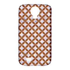 Circles3 White Marble & Rusted Metal (r) Samsung Galaxy S4 Classic Hardshell Case (pc+silicone)