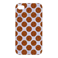 Circles2 White Marble & Rusted Metal (r) Apple Iphone 4/4s Premium Hardshell Case