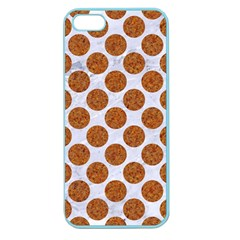Circles2 White Marble & Rusted Metal (r) Apple Seamless Iphone 5 Case (color)