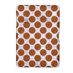 Circles2 White Marble & Rusted Metal (r) Samsung Galaxy Tab 2 (10 1 ) P5100 Hardshell Case