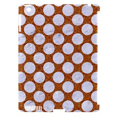 Circles2 White Marble & Rusted Metal Apple Ipad 3/4 Hardshell Case (compatible With Smart Cover)