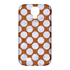 Circles2 White Marble & Rusted Metal Samsung Galaxy S4 Classic Hardshell Case (pc+silicone)