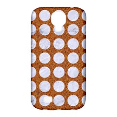 Circles1 White Marble & Rusted Metal Samsung Galaxy S4 Classic Hardshell Case (pc+silicone)