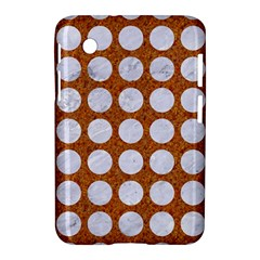 Circles1 White Marble & Rusted Metal Samsung Galaxy Tab 2 (7 ) P3100 Hardshell Case