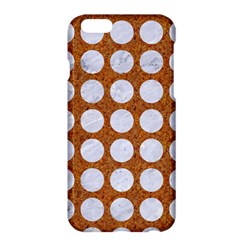 Circles1 White Marble & Rusted Metal Apple Iphone 6 Plus/6s Plus Hardshell Case