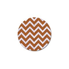 Chevron9 White Marble & Rusted Metal Golf Ball Marker