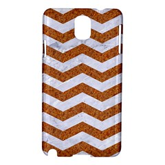 Chevron3 White Marble & Rusted Metal Samsung Galaxy Note 3 N9005 Hardshell Case