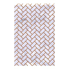 Brick2 White Marble & Rusted Metal (r) Shower Curtain 48  X 72  (small)