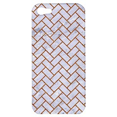 Brick2 White Marble & Rusted Metal (r) Apple Iphone 5 Hardshell Case