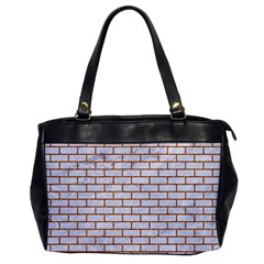 Brick1 White Marble & Rusted Metal (r) Office Handbags