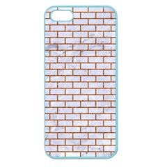 Brick1 White Marble & Rusted Metal (r) Apple Seamless Iphone 5 Case (color)