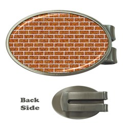 Brick1 White Marble & Rusted Metal Money Clips (oval)