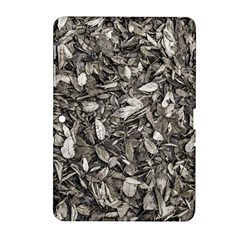 Black And White Leaves Pattern Samsung Galaxy Tab 2 (10 1 ) P5100 Hardshell Case