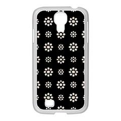 Dark Stylized Floral Pattern Samsung Galaxy S4 I9500/ I9505 Case (white)