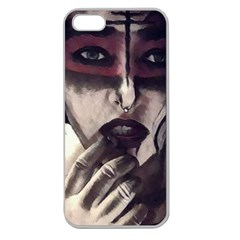 Femininely Badass Apple Seamless Iphone 5 Case (clear)